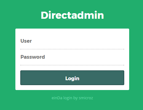 1. Login the DirectAdmin platform